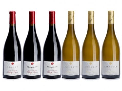 Domaine Tupinier Philippe - Lot de 2 vins AOC : Chablis 2018 et Irancy 2018 - 6 Bouteilles