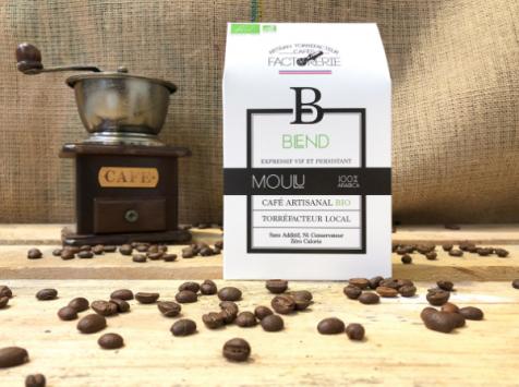 Cafés Factorerie - Café Blend 3 Arabicas Bio MOULU - 250g