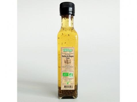 Jean-Paul Vincensini et Fils - Vinaigre de Vin Blanc Aromatisé aux Herbes du Maquis Bio