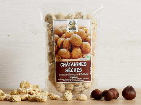 GAEC Roux - Châtaignes sèches d'Ardèche BIO et AOP - 400 g