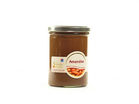 Les amandes et olives du Mont Bouquet - Amandise 200g - pâte  à tartiner chocolat amandes