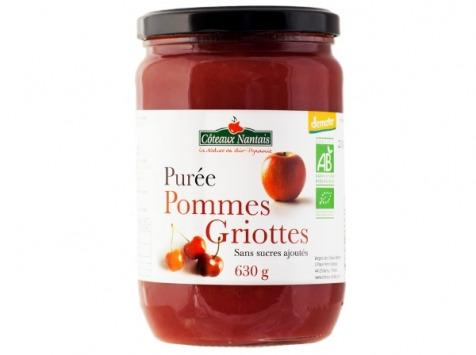 Les Côteaux Nantais - Purée Pommes Griottes 630g