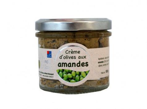 Les amandes et olives du Mont Bouquet - Crème d'olives et amandes 100 g