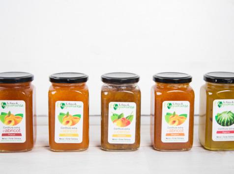 La Ferme de l'Ayguemarse - Assortiment de Confitures de fruits x5