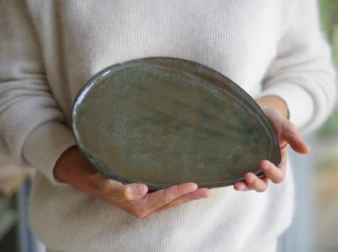 Atelier Eva Dejeanty - Assiette en Céramique (grès) modèle Cellule Taille M