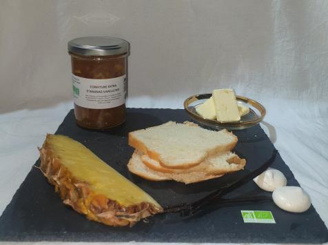 La Ferme du Montet - Confiture Extra d'ananas vanille BIO - 220 g