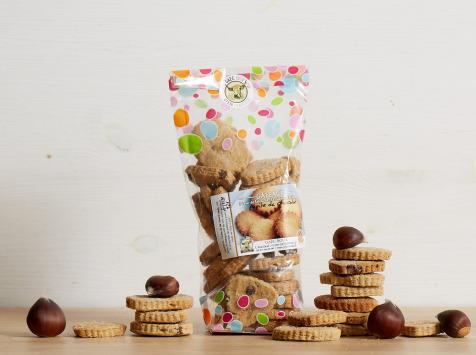 GAEC Roux - Biscuits à base de farine de châtaignes et miel de châtaignier - 150 g
