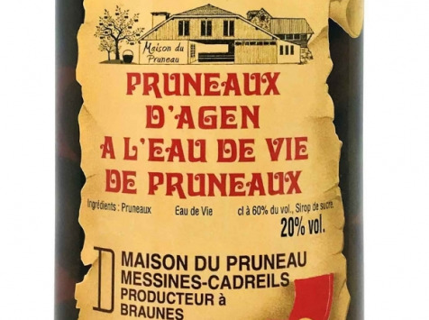 Maison du Pruneau - Pruneaux d'Agen IGP à l'Eau de Vie • 20° - 0,5 L