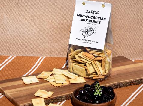 Les Niçois - Mini-focaccias Aux Olives De Papi Armando 200g