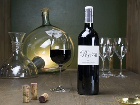 Dyvin - Château Peyrou Rouge - Castillon Côtes de Bordeaux - Lot De 6 Bouteilles