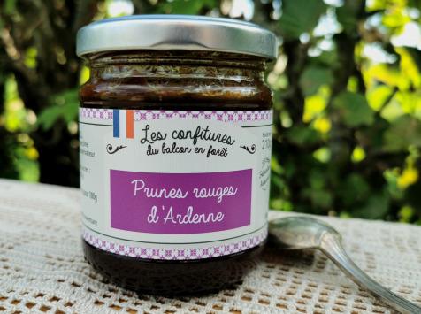 Le Balcon en Forêt - Confiture de Prunes Rouges d'Ardenne - 210 g