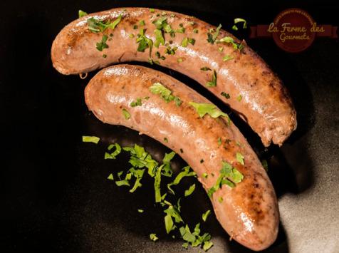 La Ferme Des Gourmets - [PRÉCOMMANDE] Saucisse Fraîche De Génisse Limousine