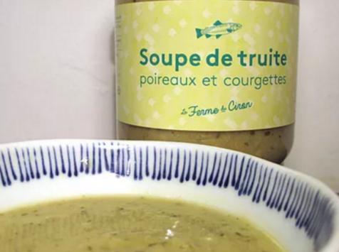 La Ferme du Ciron - Soupe De Truite Poireaux Courgettes