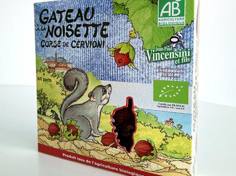 Jean-Paul Vincensini et Fils - Gateau à La Noisette Bio