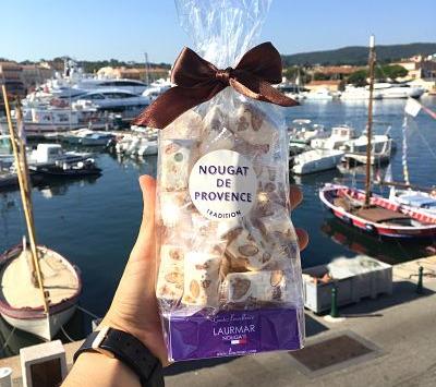 Nougats Laurmar - Nougat  blanc tendre Tradition  de Provence en domino emballé individuellement