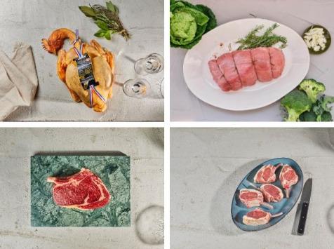 BEAUGRAIN, les viandes bien élevées - Colis de viande de nos Best Sellers (dont côte de bœuf Salers et poulet de 100 jours)