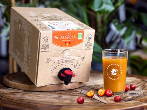 """Jus de fruits """"Ju"""" - Nectar D'acérola Bio Du Nord-est Du Brésil - Superfruit - 5 Litres"""