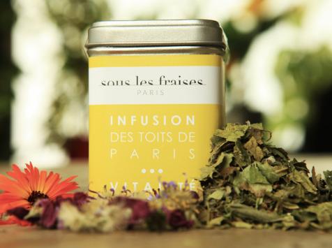 Sous les fraises - Epicerie des Toits de Paris - Infusion Vitalité