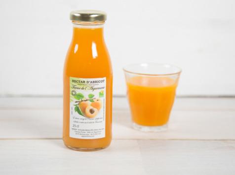 """La Ferme de l'Ayguemarse - Nectar d'abricot 25 cl (Variété """"Polonais"""" ou Orangé de Provence)"""