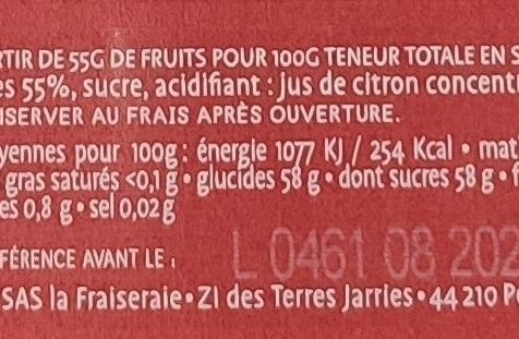 La Fraiseraie - Confiture Framboise 45g