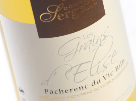 Domaine Sergent - Pacherenc du Vic Bilh - Les Grains d'Elise - Un vrai nectar pour sublimer vos repas de Fêtes !