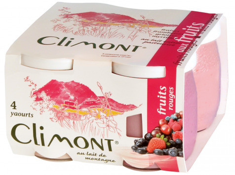 Laiterie du Climont - K-Philus - Plateau De 12 Yaourts Climont Aux Fruits