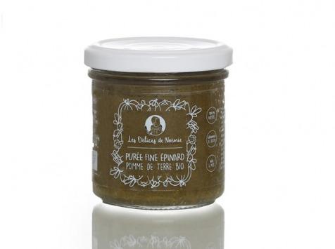 Les délices de Noémie - Petits Pots Bébé 6 Mois: Lot de 3 Purée fine épinard pomme de terre bio