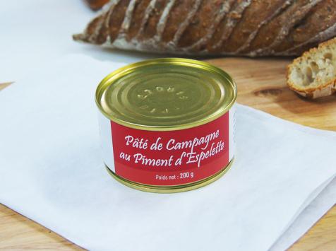 A la Truffe du Périgord - Pâté De Campagne Au Piment D'espelette 200g