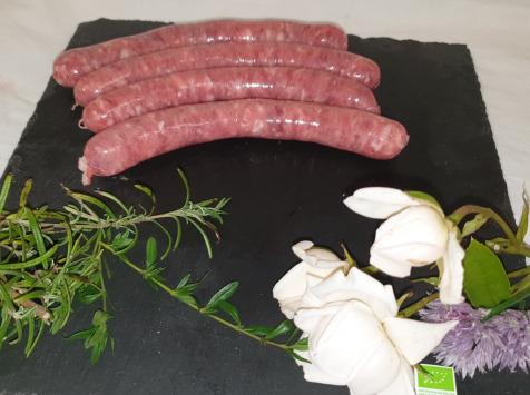 La Ferme du Montet - [SURGELÉ] Chipolatas aux 5 baies de Porc Noir Gascon BIO - 200 g