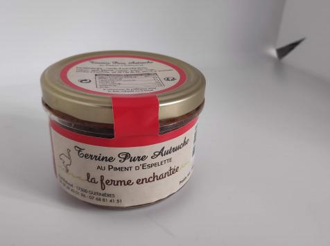 La Ferme Enchantée - Terrine Pure Autruche au Piment d'Espelette - 180 gr