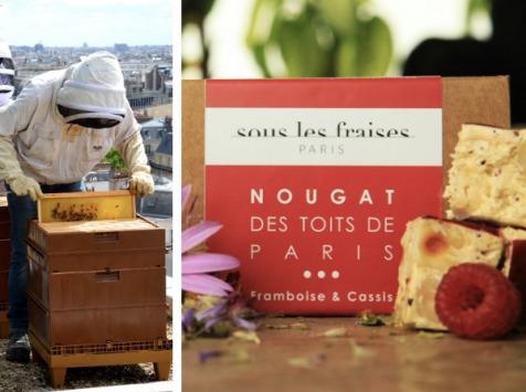 Sous les fraises - Epicerie des Toits de Paris - Nougat Framboise & Cassis