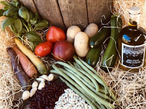 La Boite à Herbes - Panier soupe pistou provençale bio +huiles d'olive bio