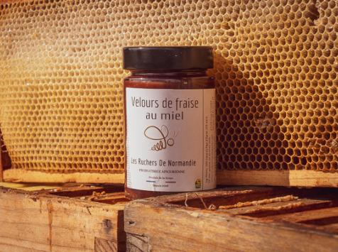 Les Ruchers de Normandie - Confiture de Fraise au miel 460g