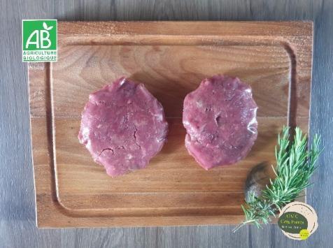 GAEC Côte Pardin - Préparation / Steak Haché de Bœuf BIO Race Aubrac - 14-16 pièces