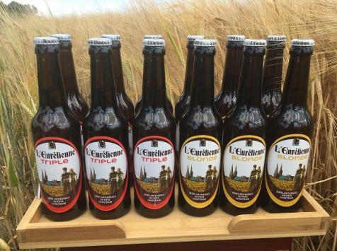L'Eurélienne - Brasserie de Chandres - 12x Bières L'Eurélienne 33cl : 6 Blonde , 6 Triple