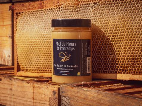 Les Ruchers de Normandie - Miel de Fleurs de printemps crémeux 500g