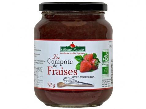 Les Côteaux Nantais - Compote Fraises 725g