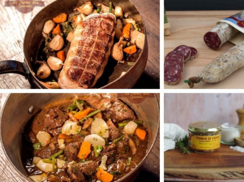 La Ferme Des Gourmets - [PRÉCOMMANDE]  Panier Weekend pour 4 personnes : Rosbeef, Bourguignon, Terrine Et Saucisson