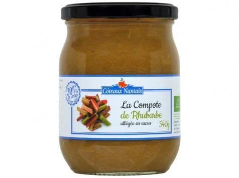 Les Côteaux Nantais - Compote Allégée En Sucres Rhubarbe 540g