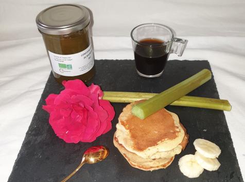 La Ferme du Montet - Confiture Extra de rhubarbe banane BIO - 220 g