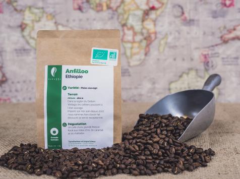 Brûlerie de Melun-Maison Anbassa - Café Anfilloo Henna Bio - Ethiopie - En Grains