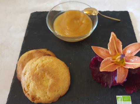 La Ferme du Montet - Compote Pomme - abricot - bio - sans sucre ajouté