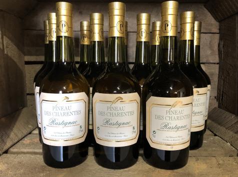 Château des Plassons - 6 Bouteilles De Pineau Des Charentes Rastignac Jeune Blanc