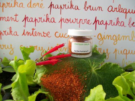 HERBA HUMANA - Paprika Brun Bio Cultivé en France 5 g