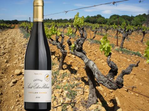 Château Saint Estève d'Uchaux - Vieilles Vignes Rouge 2017 Fûts de chêne AOP Massif d'Uchaux Villages
