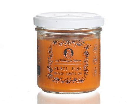 Les délices de Noémie - Petits Pots Bébé 6 Mois: Lot de 3 Purée fine patidou carotte Bio