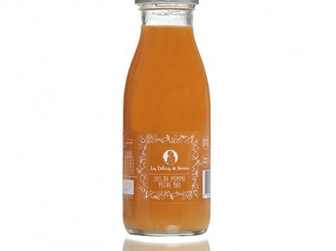 Les délices de Noémie - Lot de 3 bouteilles de Jus de Pomme Pêche Bio pour Bébé