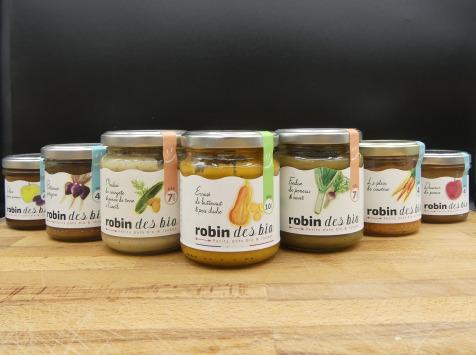 Robin des bio - Lot Découverte 15 Petits Pots Bébé-5 Recettes: Butternut, Betterave, Carotte, Poireaux Et Courgettes