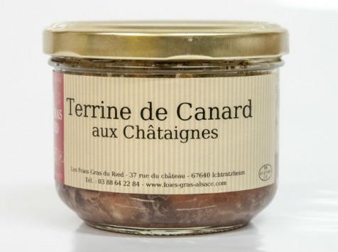 Les foies gras du Ried - Terrine De Canard Aux Châtaignes