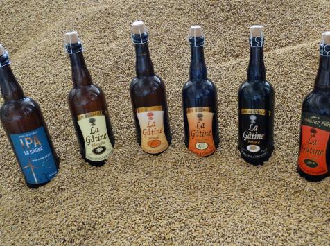 La Gâtine - Assortiment de bières artisanales 6x75 cl  : Blanche, Blonde, Ambrée, Brune, IPA, Noël